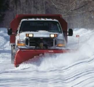 Cloud Snow Plow Truck